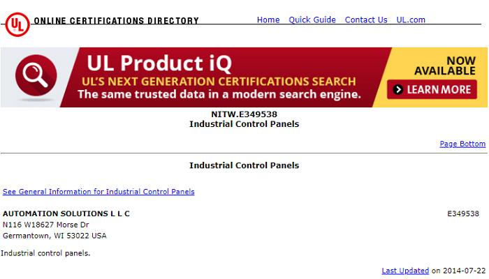 UL Online Certifications Directory