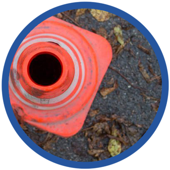warning orange cone