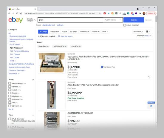 ebay PLC Search